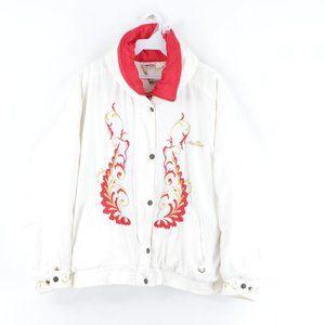Vintage 90s Ellesse Floral Spell Out Puffer Jacket